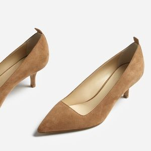 NWT Everlane 'The Editor Heel' In Tan Suede